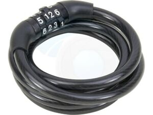 Black Spiral Bike Lock 4 Digit Combination Code Cycle Cable Padlock Bikes