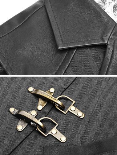 Steampunk Gothic Dandy Plaid Vest Waistcoat Bronze Clasp Roses PunkRave Men Bk