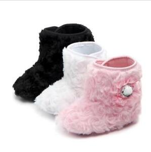 Baby Girl Boy Snow Boots Winter Booties Infant Toddler Newborn Crib Shoes 0-18M