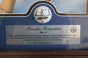 Annika-Sorenstam-framed-Auto-golf-ball-w-UDA-cert-Only-59-made