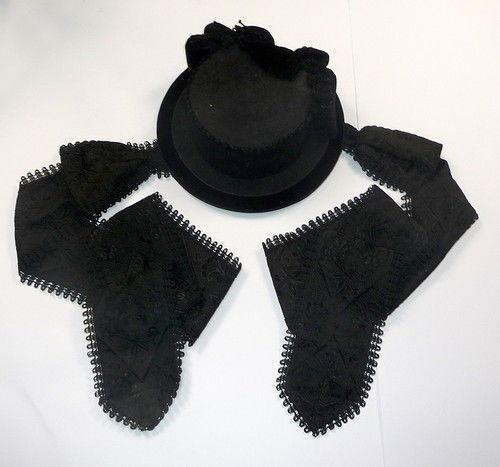 Costume Hat Lace Schlesien Vipiteno um 1920