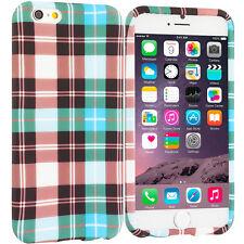 For Apple iPhone 6S PLUS TPU Design Silicone Soft Case Cover Blue Checker Plaid