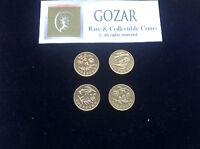Rare £1 Coins Floral England, Wales, Ireland, Scotland for Coin Hunt Album