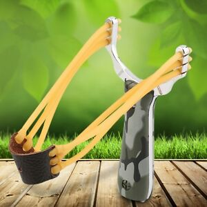 Profi acero tiragomas Slingshot tirachinas sportschleuder outdoor madera