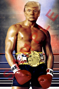DONALD TRUMP 12x18 ROCKY BALBOA POSTER PRESIDENT OF THE UNITED STATES