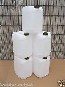 5 x 20 Liter Kanister Camping Trinkwasserkan<wbr/>ister Getränkekanist<wbr/>er  NEUWARE