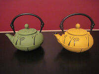 Cast Iron Tea Pot By Hues N Brews With Tree Motif - Nature Print