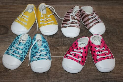NEW Lot of Baby GIRL Crib Shoes SNEAKERS Soft Sole Polka Dot Animal Print Sequin