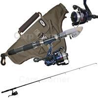 Ngt Travel Telescopic 5ft Fishing Set Up Rod & Reel + Holdall Carryall Sea Lake