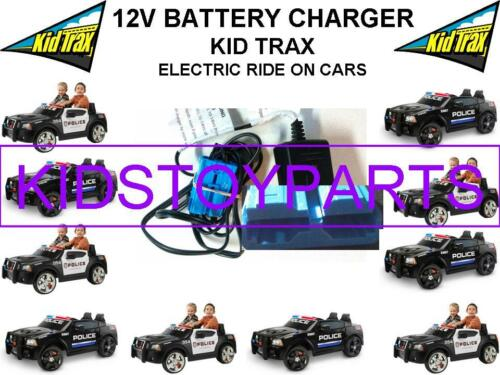 12 Volt Battery Charger KID TRAX DODGE POLICE CAR Ride On Toys w Blue Connector