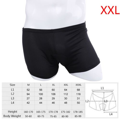 Comfortable Women Men 3D Silicone Cycling Underwear Padded Bike Bicycle Short Jh