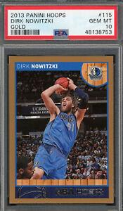 Dirk Nowitzki Dallas Mavericks 2013 Panini Hoops Basketball Card #115 PSA 10