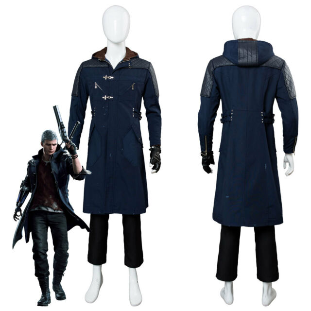 DMC5 Devil May Cry 5 Dante Aged Cosplay Costume Coat Outfit Halloween Full Set