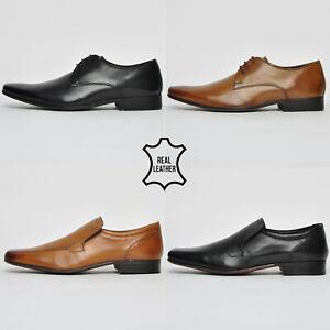 Ikon Finest Cuir Homme Classique Habillé Robe Créateur Mode Smart Chaussures