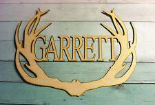 "28"" Wooden Vine Letter Deer Antlers 16 inch antler Monogram Name custom"