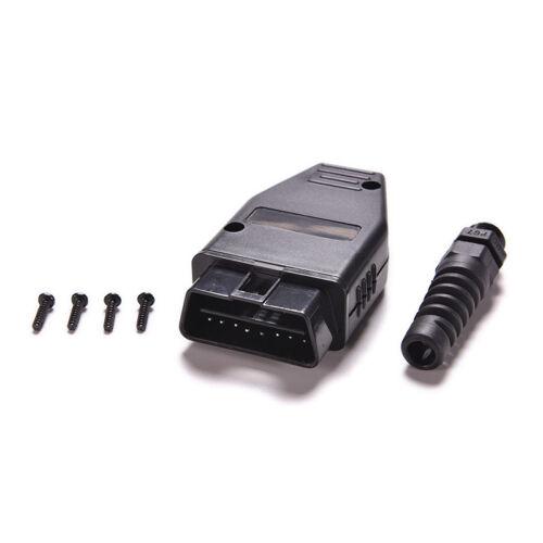 OBDII Connector OBDII 16 Pin Adaptor OBD II Plug Connectors Male OBD 16PIN EL