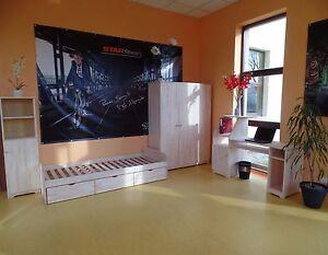 Chambre denfants des jeunes set complet lit bureau armoire Étagère