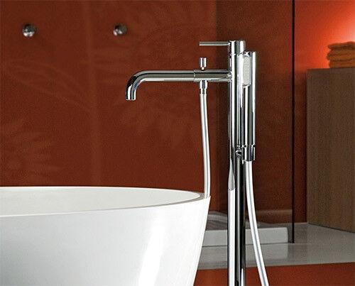 Standarmatur Einhebelmischer chrom Wannenfüllarmatur für freistehende Badewannen