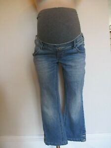 MAMALICIOUS-MATERNITY-BLUE-DENIM-3-4-LENGTH-JEANS-CROPPED-SIZE-6-8-10-12-14-BNWT