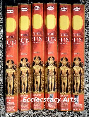 Hem The Sun Incense Sticks Surya 6 Packs