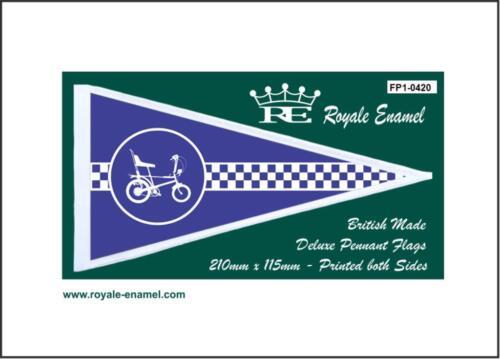 ROYALE ANTENNA PENNANT FLAG LAMBRETTA BLUE FP1.0082