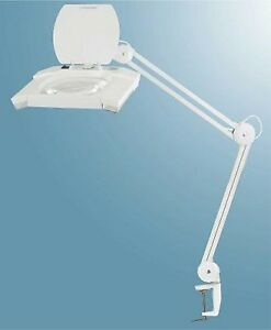 Lampe De Bureau Avec Loupe Desktop Lamp With Magnifier Led Ebay