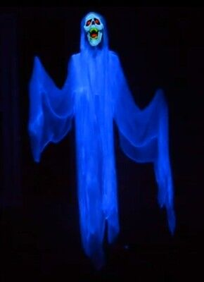 MOTORIZED SCREAM FLYING CRANK GHOST RED LED FCG ANIMATED HALLOWEEN PROP