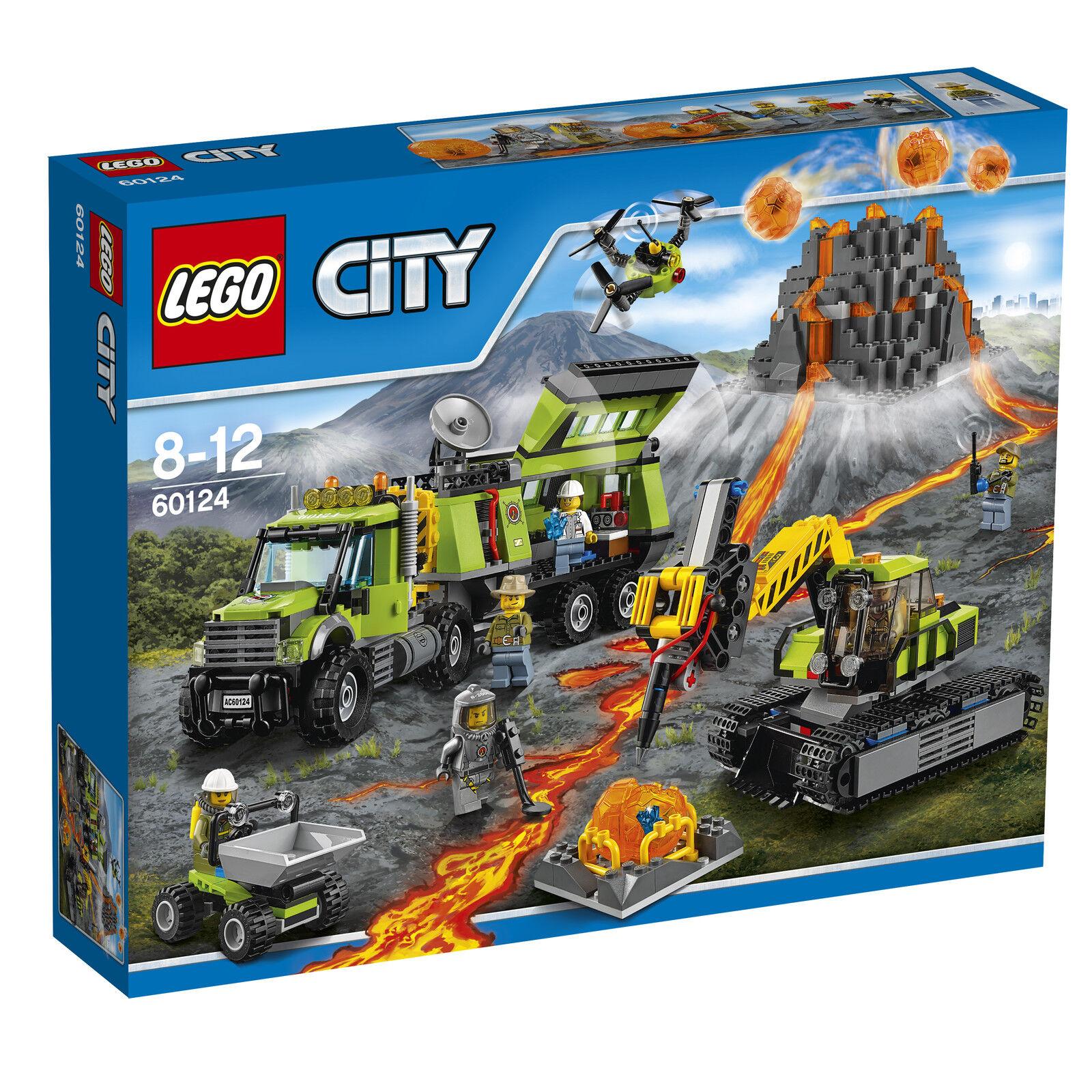 LEGO ® City 60124 volcan-chercheurs Station Nouveau neuf dans sa boîte _ Volcano exploration base New