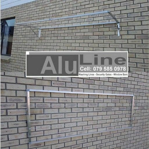 Fold Down Washing Lines - Aluminium