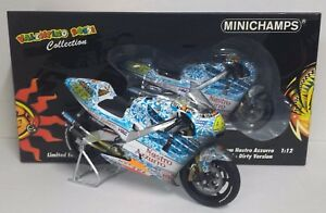 MINICHAMPS-VALENTINO-ROSSI-1-12-HONDA-NSR-500-NASTRO-AZZURRO-GP-MUGELLO-2001-NEW
