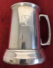 "Vintage 5"" Aluminum Metal Glass Bottom PLAYBOY Beer Tankard Stein Mug Cup"