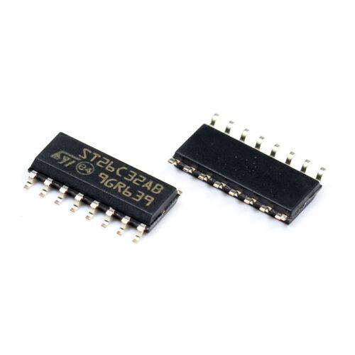 10PCS ST26C32ABDR IC LINE RCVR QUAD DIFF 16-SOIC ST26C32 26C32 ST26C32A 26C32A S