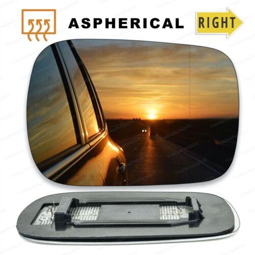 Derecho Lado Del Conductor Ala Gran Angular Cristal Espejo para Volvo XC90 02-06 climatizada