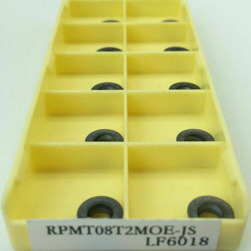 10pcs RPMT08T2M0E-JS LF6018 alloy carbide inserts round cutting tool inserts