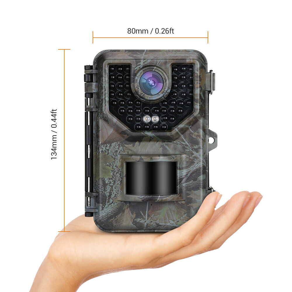 2 Pack 1080P Camara caza Disparador 0.5s 2.4  LCD Animal Wildlife Cámara Trail