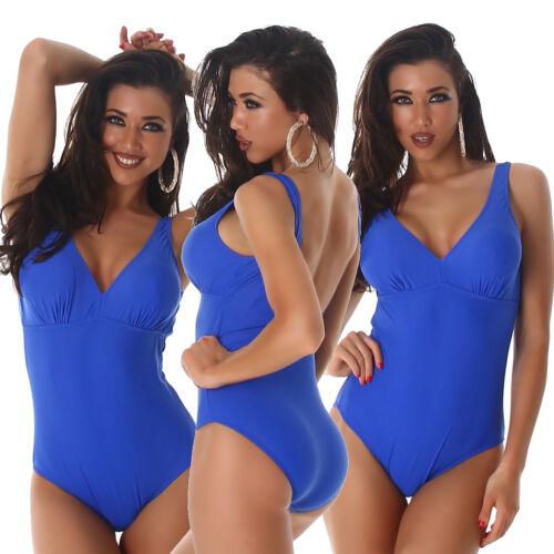 Badeanzug Bikini Badmode Einteiler Träger Basic Push-Up Schwarz 38 40 42 44 46