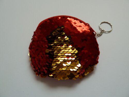 Lentejuelas billetera monedero Cartera inflexión lentejuelas rojo oro