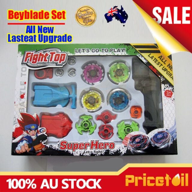 OZ New 4D Fusion Top Metal Master Rapidity Fight Rare Beyblade Launcher Grip Set