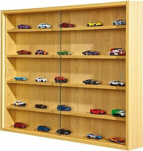 Glass Display Cabinet Modern Storage Shelves Wall Box Collectibles ...