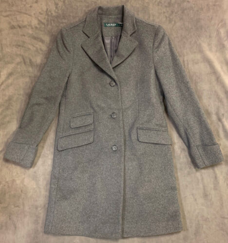 Single Walker Uld 398 6 Ny Lauren Ralph Coat Grå Sz 726113660145 Blend Breasted 6qSxICw