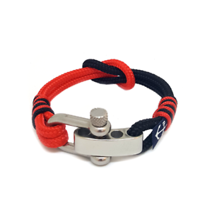 Nautical-Rope-Bracelet-Sailing-Mens-Womens-Handmade-Reef-Knot-bracelet-RED-BLACK