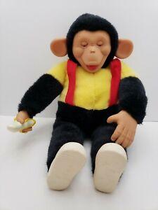 Vintage-Rubber-Face-Plush-Monkey-Banana-Mr-Bim-Zip-Zippy-Zim-chimpanzee-18-034-RARE