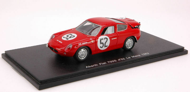 Abarth Fiat 700 S  52 Le Le Le Mans 1962 1 43 Model S1322 SPARK MODEL 51cb69