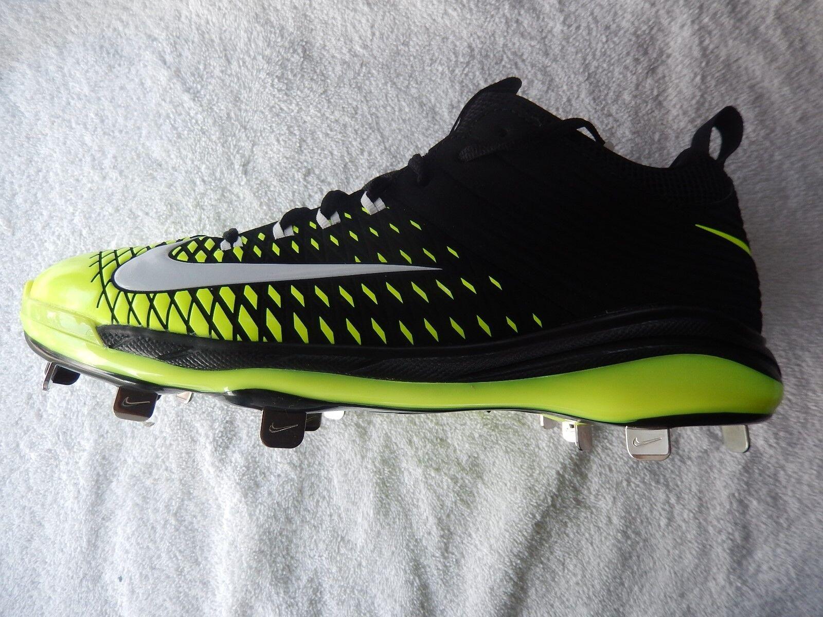 Nike Trout 2 Pro Metal Baseball Cleats - Black, Volt, White - New Comfortable Cheap women's shoes women's shoes