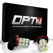 OPT7 Show Glow H11 LED Fog Light 27-SMD DRL 6000K Cool White 5050 Bulb