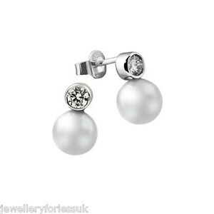 18Carat-White-Gold-amp-Akoya-White-Cultured-Pearl-amp-Diamond-Set-Pair-Drop-Earrings
