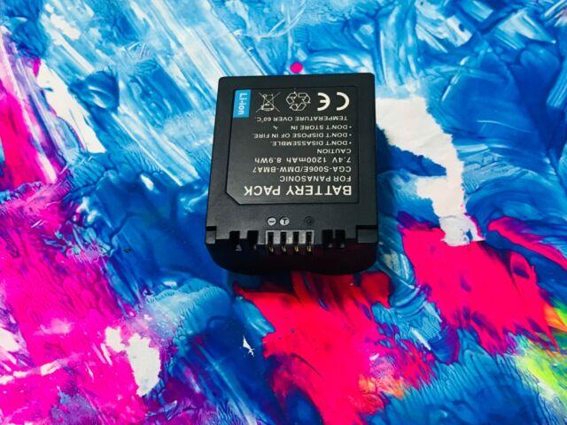 2x CGA-S006e / BMA7 Batteries for Panasonic Lumix DMC-FZ7 DMC-FZ8 DMC-FZ35 AU