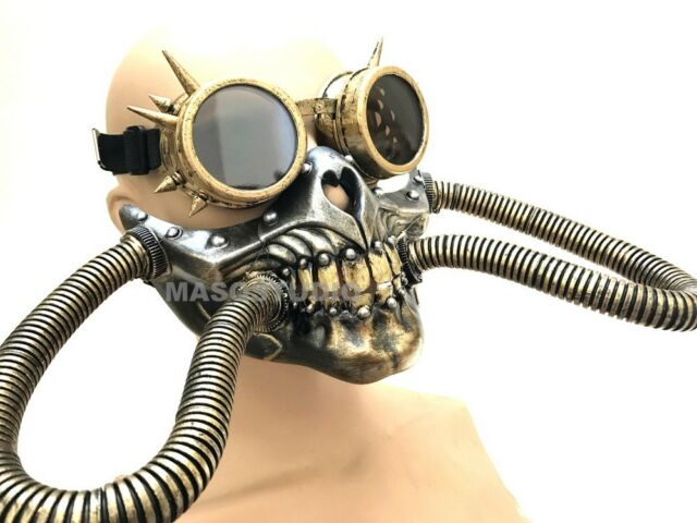 Steampunk Civil War Spiked Goggles Glasses mask Halloween party Costume Dress up
