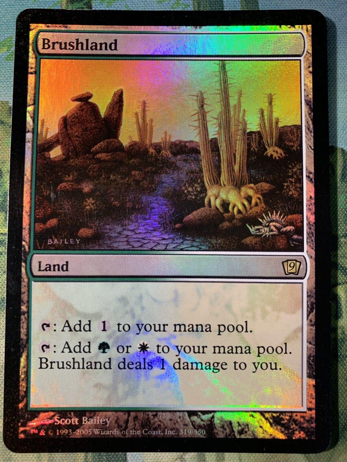 X1 Foil Brushland (NM) 9th Edition - MTG Magic