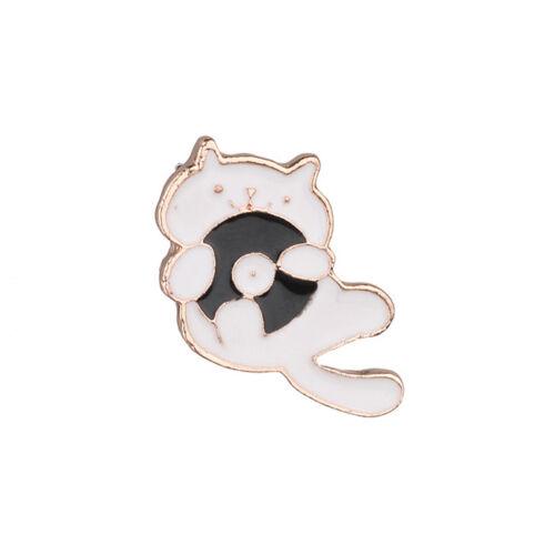 Pin Mermaid Cat Brooch Cartoon Badge Lapel Clothes Jacket Bags Accessories 8C